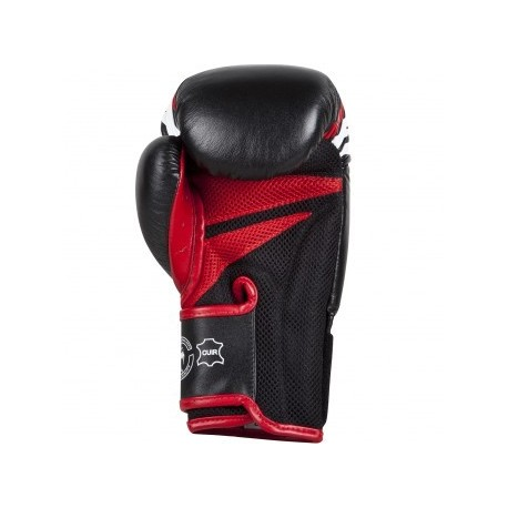 """Venum """"Sharp"""" Boxing Gloves - Black/Ice/Red - Nappa Leather"""