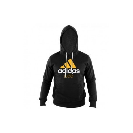 nouvelle arrivee 9eb18 b0e35 Adidas Community Sweat à capuche Noir / Orange Judo - Budo House