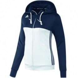 38/5000 Adidas T16 Team Hoodie Women Blue / White
