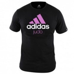 Adidas Community T-Shirt Black / Pink Judo