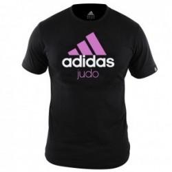 Adidas Community T-Shirt Zwart/Roze Judo