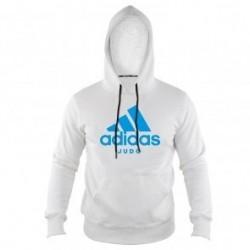 Adidas Community Hoodie Wit/Blauw Judo