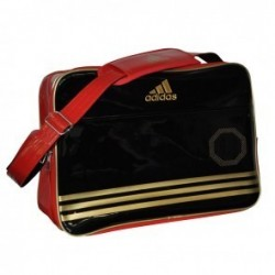 Sac de sport Adidas Shiny Noir / Rouge / Or Large