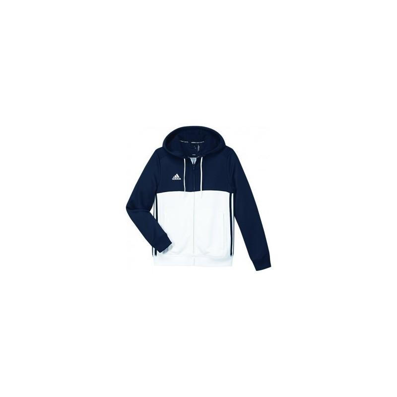 Adidas T16 sweat à capuche Bleu Blanc Jeune Budo House
