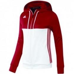 Adidas T16 Team Hoodie Women Rood/Wit