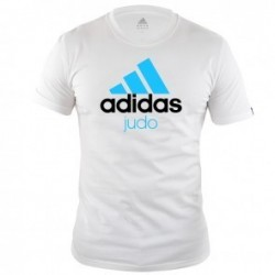 Adidas Community T-Shirt Wit/Blauw Judo