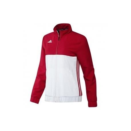 Blouson adidas T16 Team Femme Rouge Blanc Budo House