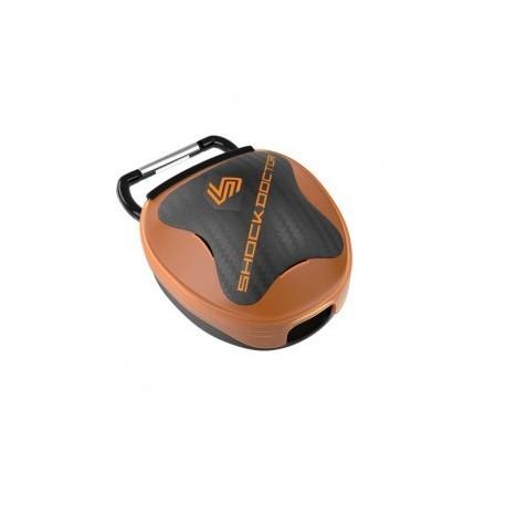 Shock Doctor Mouthguard Storage System Orange