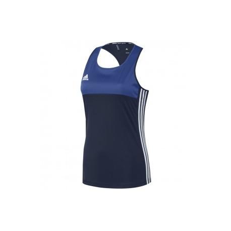 adidas T16 Sleeveless T-shirt Women Blue