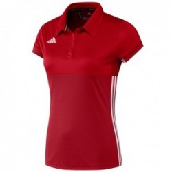 adidas T16 ClimaCool Polo Women Red