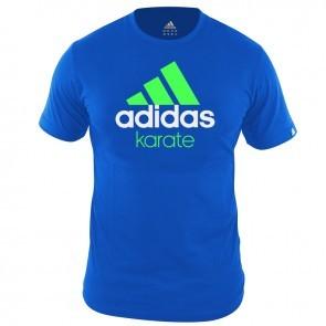 Adidas Community T Shirt Bleu Vert KarateZoom Budo House