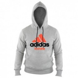 Adidas Community Hoodie Gray / Orange Karate