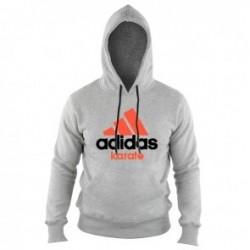 Adidas Community Hoodie Gris / Orange Karaté
