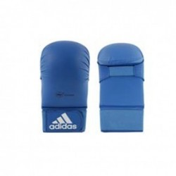 Adidas WKF Karate Glove Without Thumb Blue