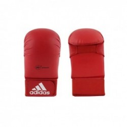 adidas WKF Karate Glove Without Thumb Red