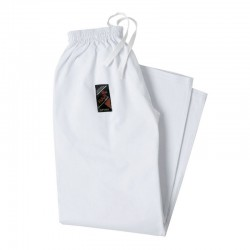 White Karate Trousers Cotton