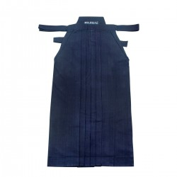 Hakama .100% Cotton Heavy weight. Dyed.  Blue.(Fujimae)