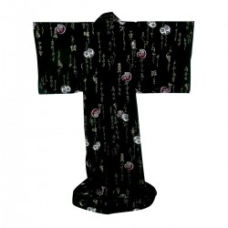 "Japonese Kimono. Cotton. ""Legend"". Black. Conform Foam"