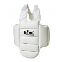 CHEST GUARD. WHITE. KARATE