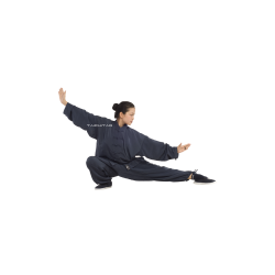 Tai Chi Uniform Grey Blue
