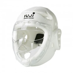 TKD head guard with mask. White.