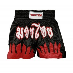 Thaishorts TOP TEN black (red flames)