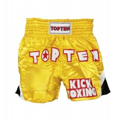 "Thaiboxpants TOP TEN yellow/black ""Kickboxing"""