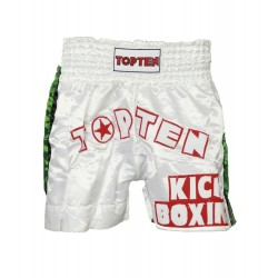"Thaiboxpants TOP TEN white ""Kickboxing"""