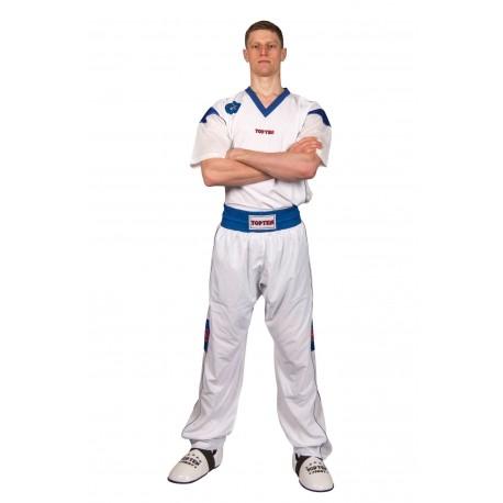 "Kickboxing uniform  TOP TEN ""Star Collection"" white/blue"