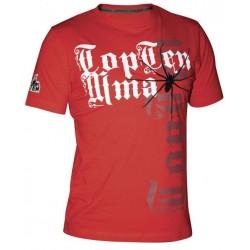"Cottonshirt TOP TEN MMA ""Spider"" red"