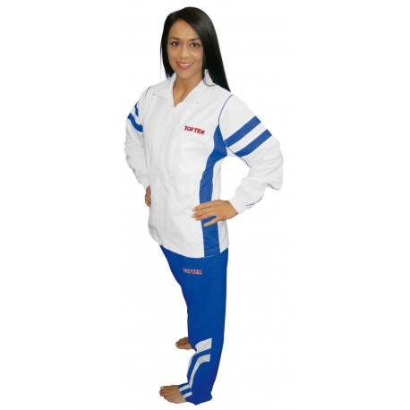 """Trainingsuit for men TOP TEN """"Fight Elite"""" white/blue"""