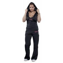 Ärmelloser Hoodie für Frauen avec tiefem Ausschnitt Black