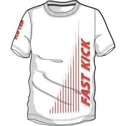"""T-Shirt TOP TEN  """"Fast Kick"""" white"""