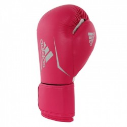 Adidas Speed 100 Kick Boxing Gloves Pink / Silver Women's Edition