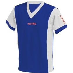 V-neck T-shirt Unisex Blue