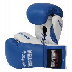 "Boxinggloves ""TOP TEN Pro"" - blue/white"