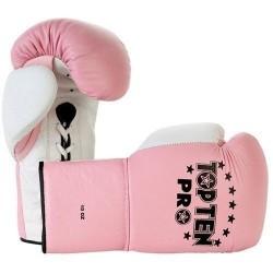"Boxinggloves ""TOP TEN Pro"" - pink/white 10oz"