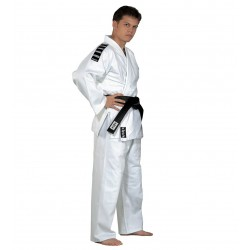 Judo-gi Training white with shoulder stripes