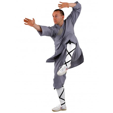 Shaolin suit, in gray and orange