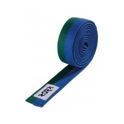 Judo belt green / blue