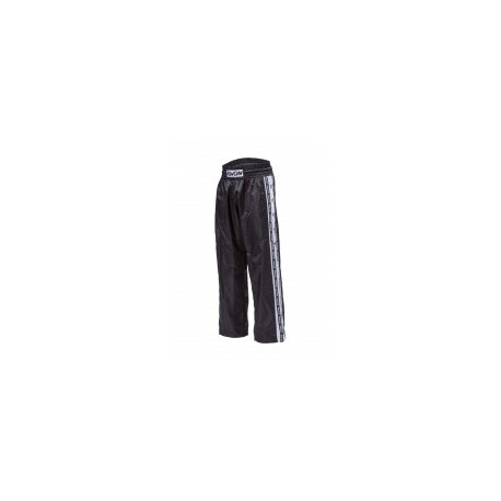 Kwon ban satin pants black / white