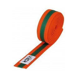 Judo belt orange / green / orange