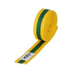Judo belt yellow / green / yellow