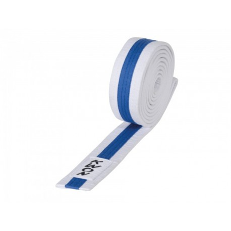 White / blue Judo belt