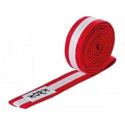 Judo belt red / white