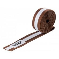Judo belt brown / white