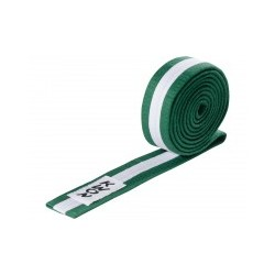 Judo belt green / white