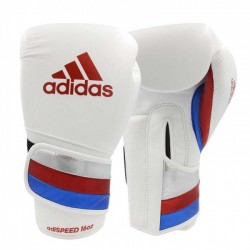 adidas Boxing Gloves adiSPEED Strap-Up White / Red / Blue