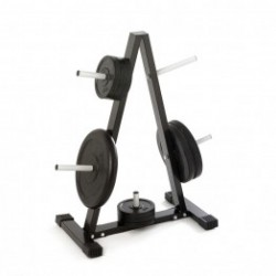 Disc holder for dumbbell