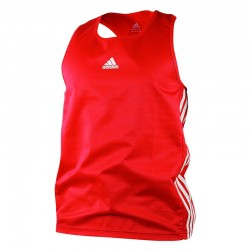adidas Amateur Boxing Tank Lightweight Rood/Wit Large